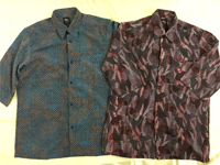 紳士 日本製7分袖プリントシャツ