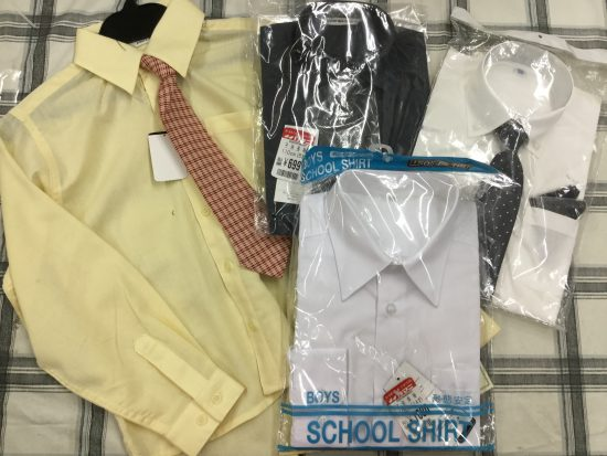 新入園入学に男児ワイシャツ。