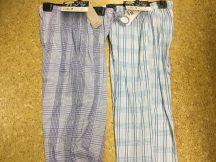 パジャマパンツで過ごす夏の夜。