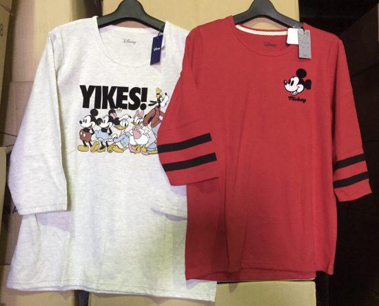 ディズニーの7分Tシャツが人気急上昇。