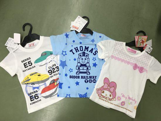 キッズのキャラクターTシャツ大処分セール!